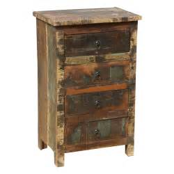 appalachian rustic distressed reclaimed wood 4 drawer nightstand
