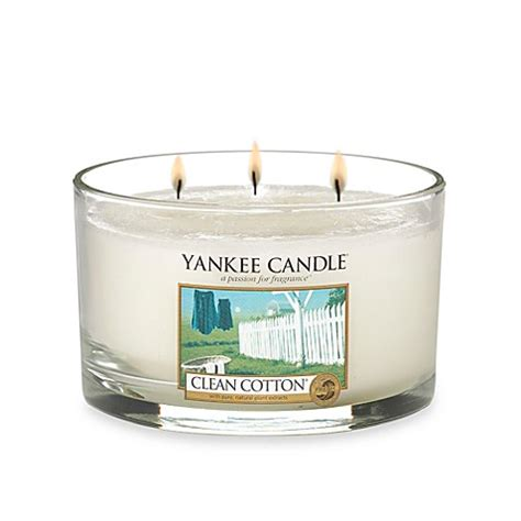 bed bath and beyond yankee candle buy yankee candle 174 housewarmer 174 clean cotton 174 3 wick