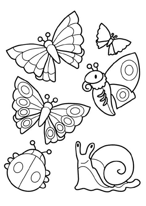 easy bug coloring pages coloriage petites b 234 tes hugolescargot com