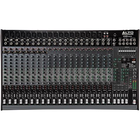 Alto Mixer Live Zmx52 alto live 2404 24 channel 4 mixer musician s friend