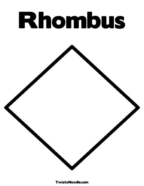 Printable Shapes Rhombus | free coloring pages of trapezoid shapes