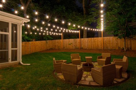 backyard lights ideas custom string lights light up nashville design and