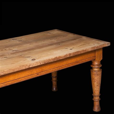pine dining room table oak and pine dining table at 1stdibs
