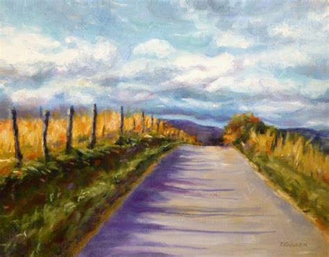Landscape Artists Fields Daily Painting Projects Open Country Road Painting