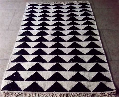 black and white triangle rug triangle rug s