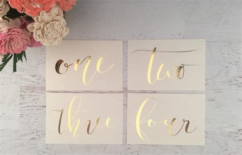gold wedding table numbers ivory and gold table numbers table markers wedding