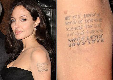 tatuaje de angelina jolie en la espalda significado los curiosos tatuajes de las famosas tatuajes logia