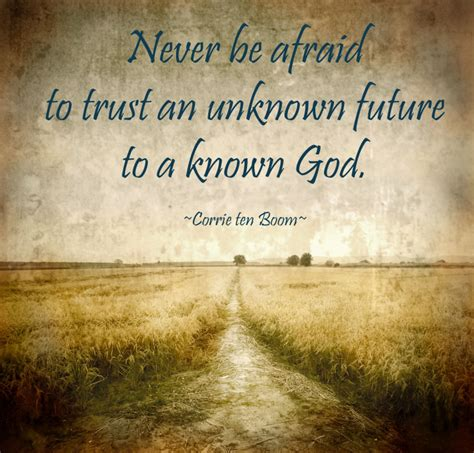 trust unknown future to a known god juliet k kennedy