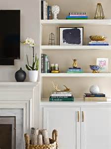 Living Room Shelf Ideas Built In Shelves Flanking Television Design Ideas