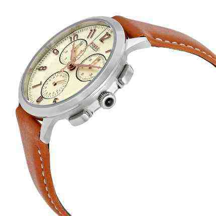Jam Tangan Fossil Es3855 White Brown Leather jual jam tangan wanita fossil ch3014 abilene chronograph brown leather baru jam
