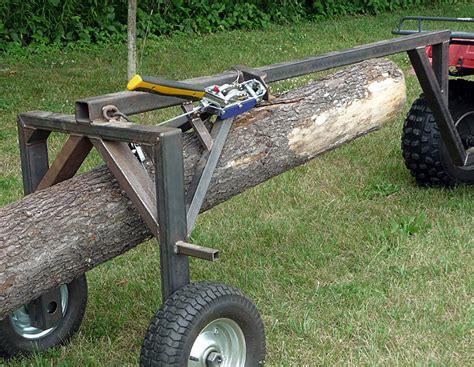 Galerry homemade atv log trailer