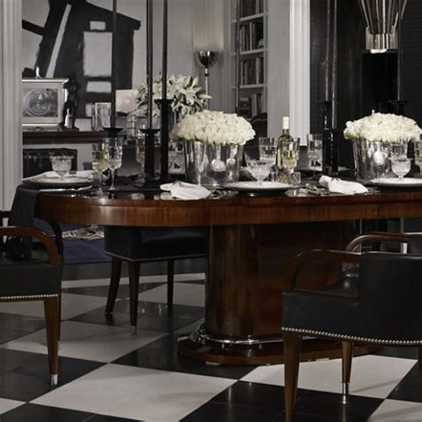 ralph lauren black white dining room tablescapes a paddington perspective august 2010