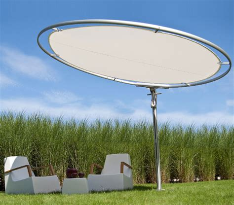Circular Patio Umbrella by Umbrosa   unusual Eclipse