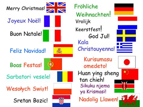 merry christmas   languages  bigmickey teaching resources tes