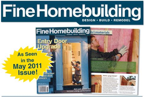 fine homebuilding aline set in the media