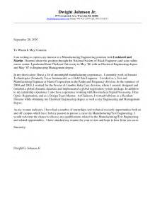 Exles Of Engineering Cover Letters by Engineering Internship Cover Letter Exles Vntask