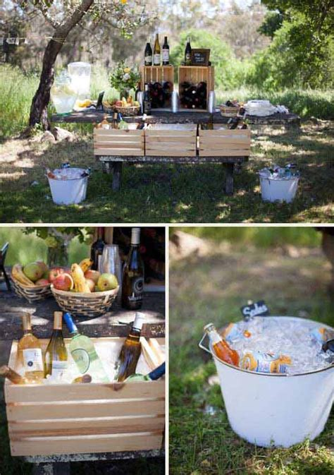 Backyard Wedding Bar Ideas 27 Simply Charming And Smart Unique Outdoor Wedding Bar