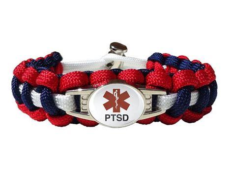 Medical ID PTSD Paracord Bracelet   Handmade By US Veterans   Handmade By Heroes