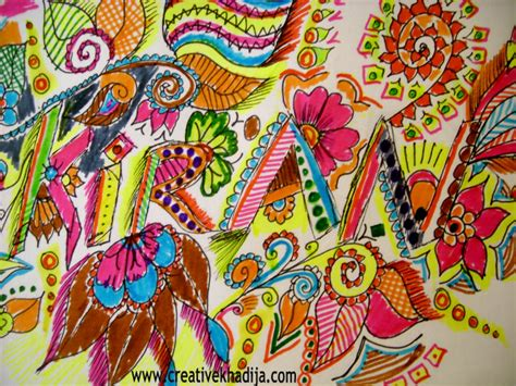 colorful designs drawing doodling