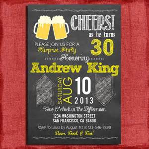 surprise 21st 30th 40th 50th beer chalkboard style birthday
