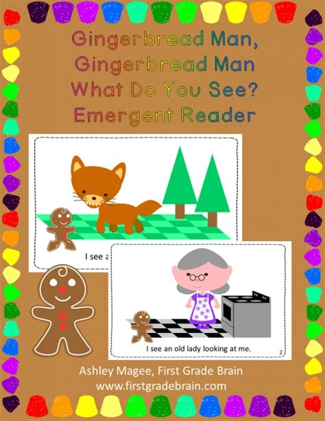gingerbread man printable emergent reader gingerbread man what do you see emergent reader product