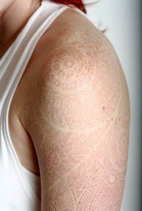 white ink tattoo on freckles 74 delicate lace tattoo designs mens craze