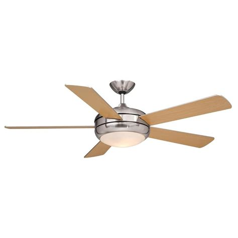 5 Light Ceiling Fan Shop Cascadia Lighting Rialta 52 In Satin Nickel Downrod Mount Ceiling Fan With Remote