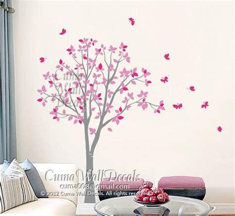 schmetterling 3d 4180 stickers muraux vinyl hibou arbre et papillon nature