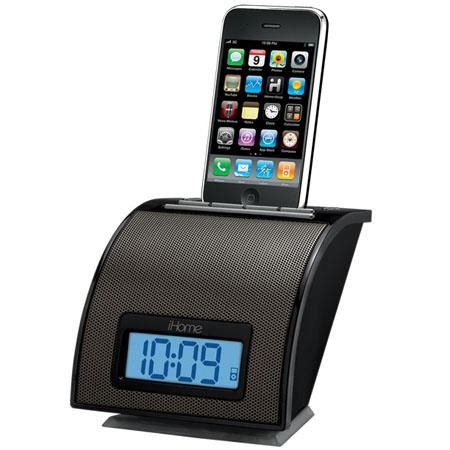 ihome ip11bvc space saver alarm clock for iphone ip11bvc