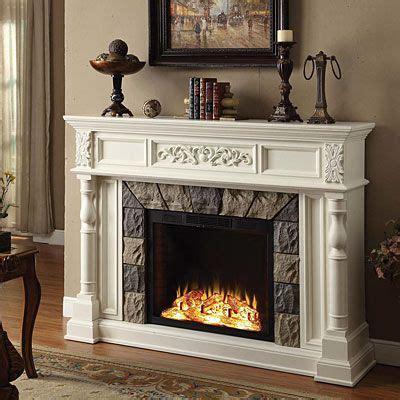 Big Electric Fireplace by White Finish Grand Fireplace Can Burn On No Burn Days