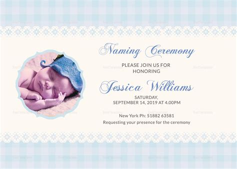 naming ceremony invitation template wonderful baby naming ceremony invitation card design