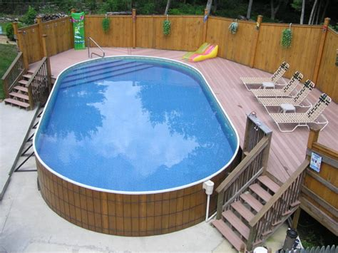 Backyard Pools With Deck Decks For Above Ground Pools Pool Traditional With