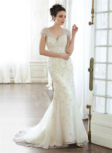 Wedding Dress Sottero by Maggie Sottero Amal Vintage Wedding Dress Hoops A