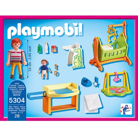 playmobil doll house chambre de b 233 b 233 playmobil dollhouse 5304 la grande r 233 cr 233