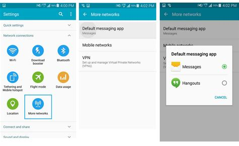android default messaging app how to change the default sms app on android