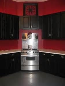 Dark Red Kitchen Cabinets Kitchen Accessories On Pinterest Red Kitchen Cabinets