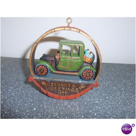 woodlike 1977 hallmark christmas ornament season s
