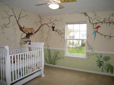 Jungle Themed Nursery Decor Jungle Wall Mural For Nursery How To Make Jungle Theme Jungle Wall Mural For Nursery Mix