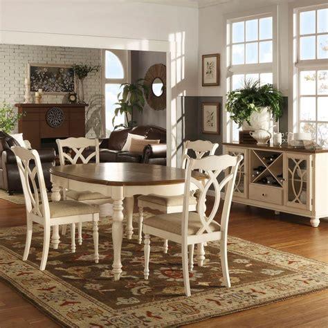 homesullivan rosemont 5 piece antique white dining set
