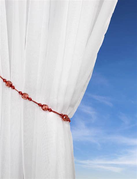 beaded curtain tie backs twinkle tie backs pair beaded rope curtain voile