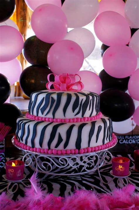 zebra themed birthday party ideas pink zebra theme birthday party ideas photo 10 of 14