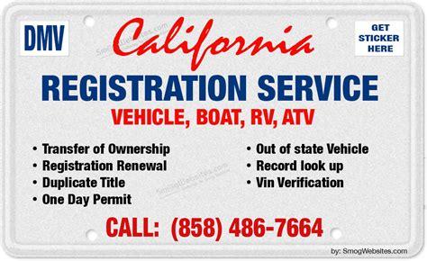 motor vehicle license renewal california dmv registration