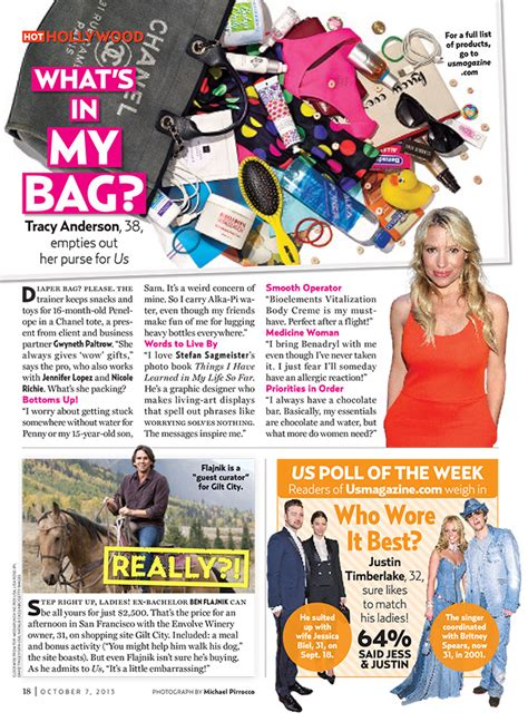 Bag Snob In Us Magazine by Us Weekly What S In My Bag Tracy