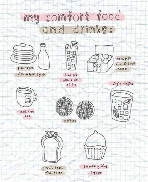 doodle imagine draw notebook page idea favorite comfort food artjournal diy