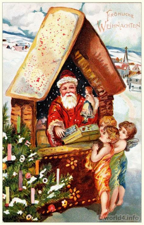 variety  santa claus christmas postcards lost