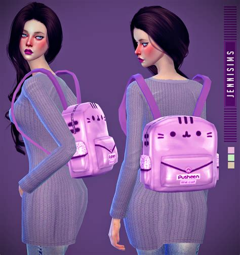 my sims 4 blog hair bow by karzalee my sims 4 blog backpack and hair bow by jennisims