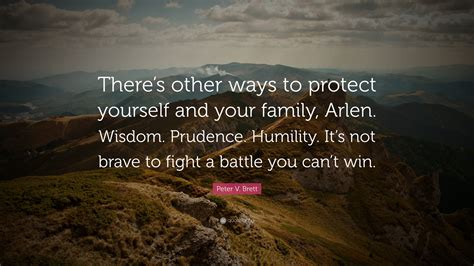 Is It To Protect Your In A Fight by V Brett Quote There S Other Ways To Protect