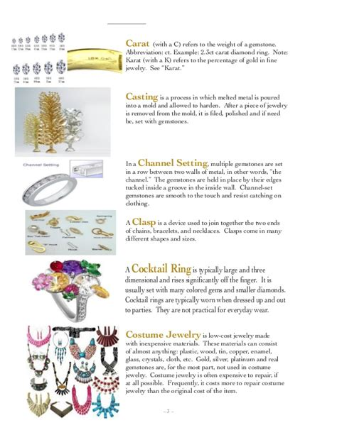 jewelry process detail of jewelry process pdf