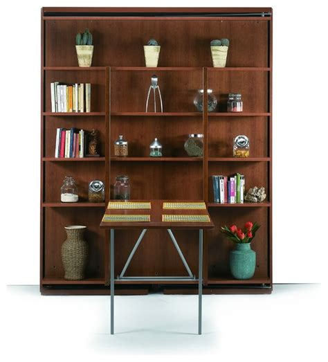 girevole murphy bed with bookcase folding table