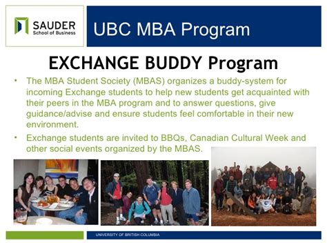 Mba Ubc Program by Mba Exchange Sauder School Of Business Ubc